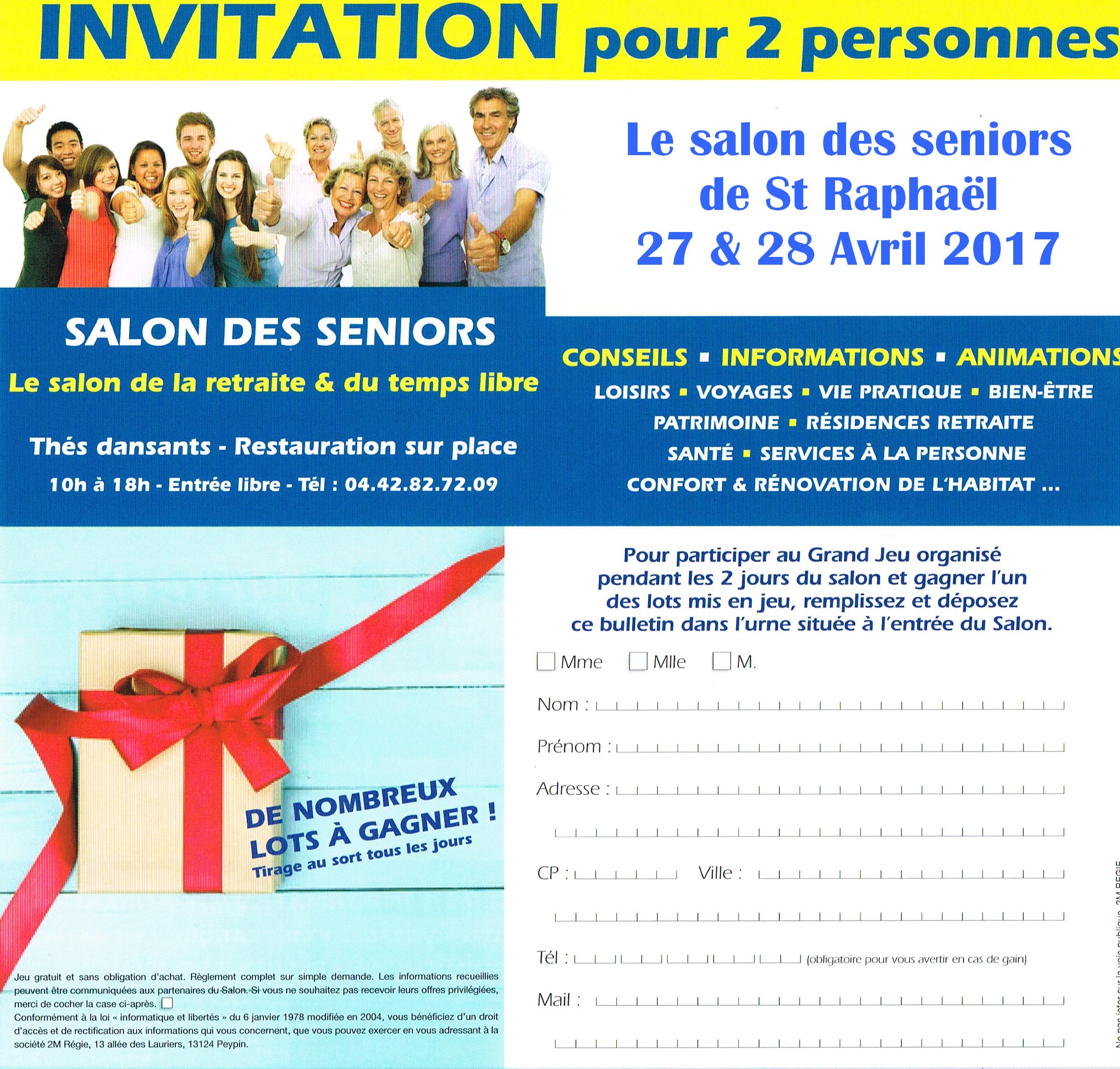 Saint rapha l for Salon des seniors 2017